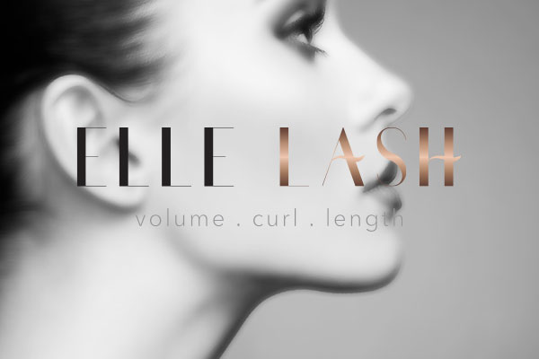 elle lash logo design